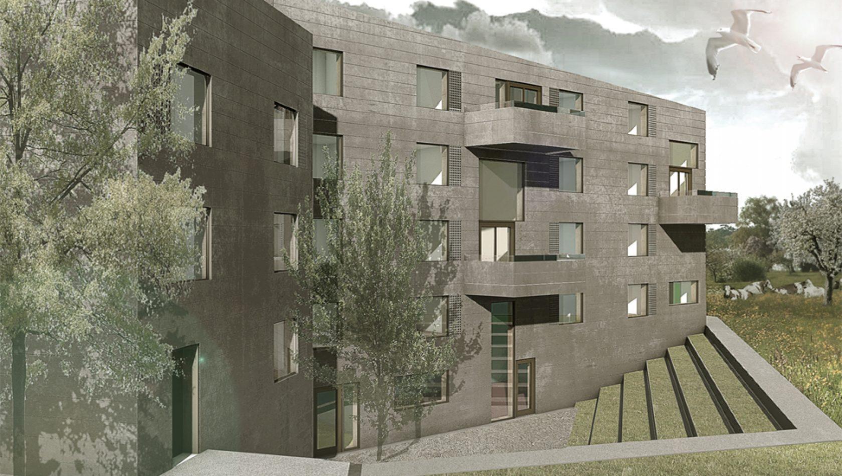 Brüggli Wohnhaus für Lernende, Romanshorn, Visualsierung by MANTEL Architects